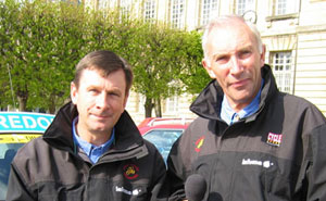 Paul Sherwen and Phil Liggett